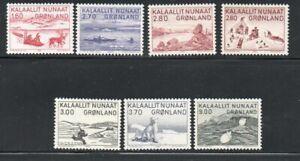 Greenland Sc 112-18 1980-1987 Eskimo Life stamp set mint NH