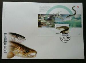 SJ-Portugal-Migratory-Fishes-2011-European-Eel-Fish-miniature-FDC