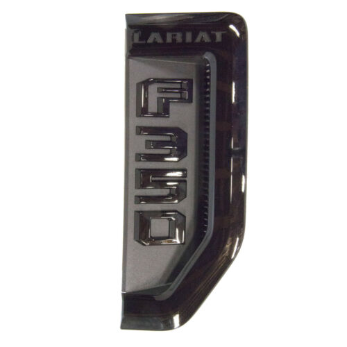 NEW OEM 17-19 Ford F350 Super Duty Lariat Sport Fender Emblem RH Vent BLACK