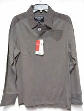 CELIO  POLO Authentic Brand Men's Long Sleeved Gray size- L made in FRANCE