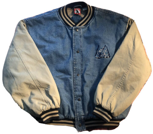 Vintage DISNEY Mickey Varsity Denim Jacket Mens XX