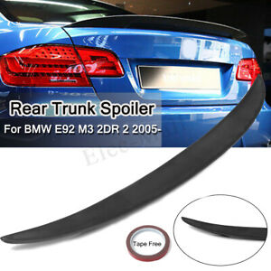 Details About Matte Trunk Boot Lip Rear Spoiler Wing Performance For Bmw E92 M3 Coupe