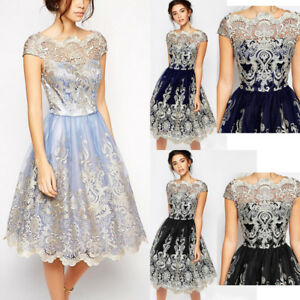 Luxury-Lace-Prom-Formal-Evening-Cocktail-Party-Bridesmaid-Ball-Gowns-Dress-Women