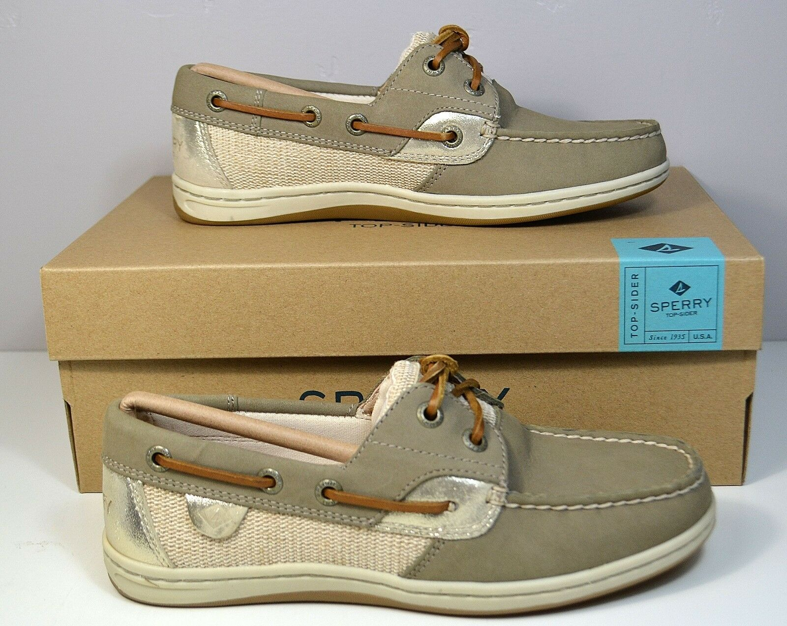 NIB SPERRY TOP SIDER KOIFISH CORE TAUPE PLAT 5 BOAT SHOES FLATS SZ 5 PLAT d8a2e9