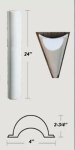 """Details about PVC (Soft) Boat Dock Cushions / 24"""" Piling Bumper"""