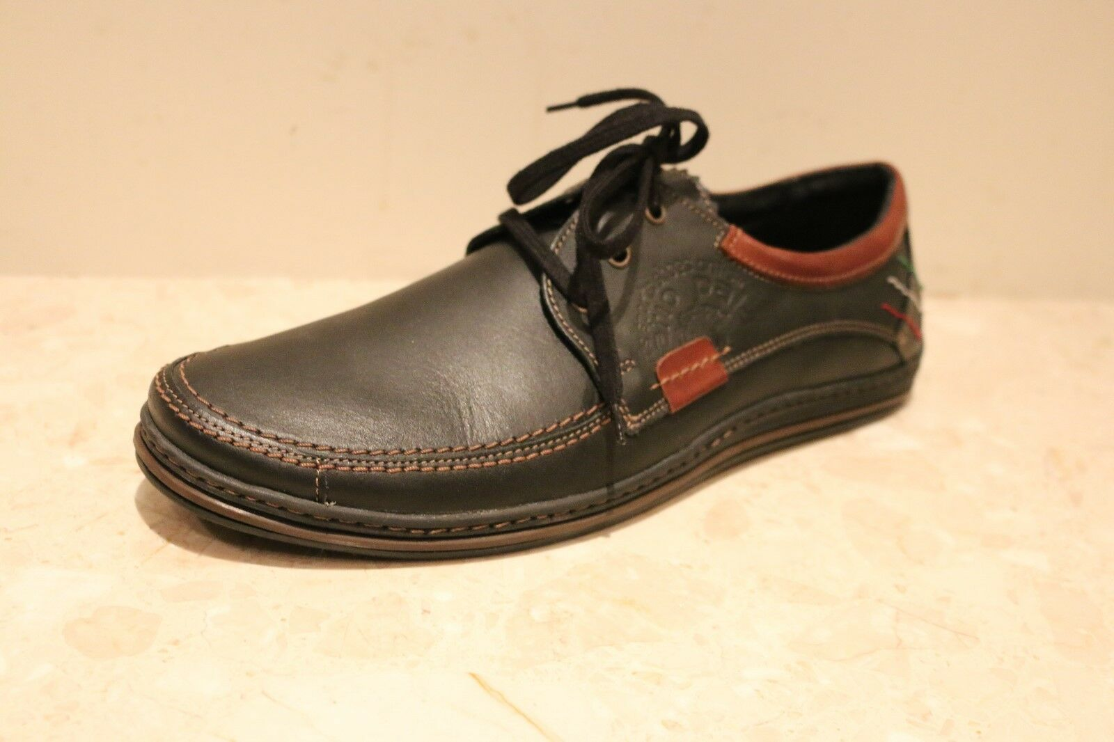 MARIO PALA 100% LEATHER MENS CASUAL SHOES NICE AND LIGHT