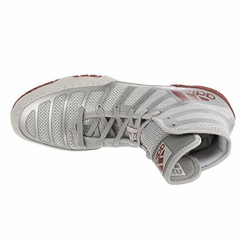 best service c7a74 620c8 Adidas AC7498 adidas Adizero Varner Wrestling Shoes - Red Silver Red Mens 12