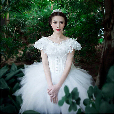 White Quinceanera Evening Dresses Formal Prom Party Pageant Cocktail Ball Gown