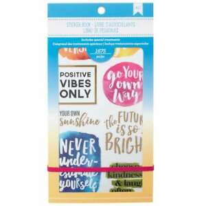 """American Crafts Planner Stickers 12-page Book 4.75/""""x9/""""-faith"""