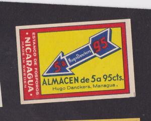 Ancienne étiquette allumettes Nicaragua BN40550 Almacen v9y0E4NC-08062718-848316755
