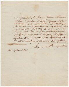 Bonaparte, Joséphine (1763-1814) - Letter signed regarding poor orphans