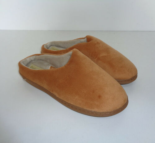 Ladies Slippers New Tan Cushioned Slip On Mules Indoor Shoes UK Size 3-4 5-6 7-8