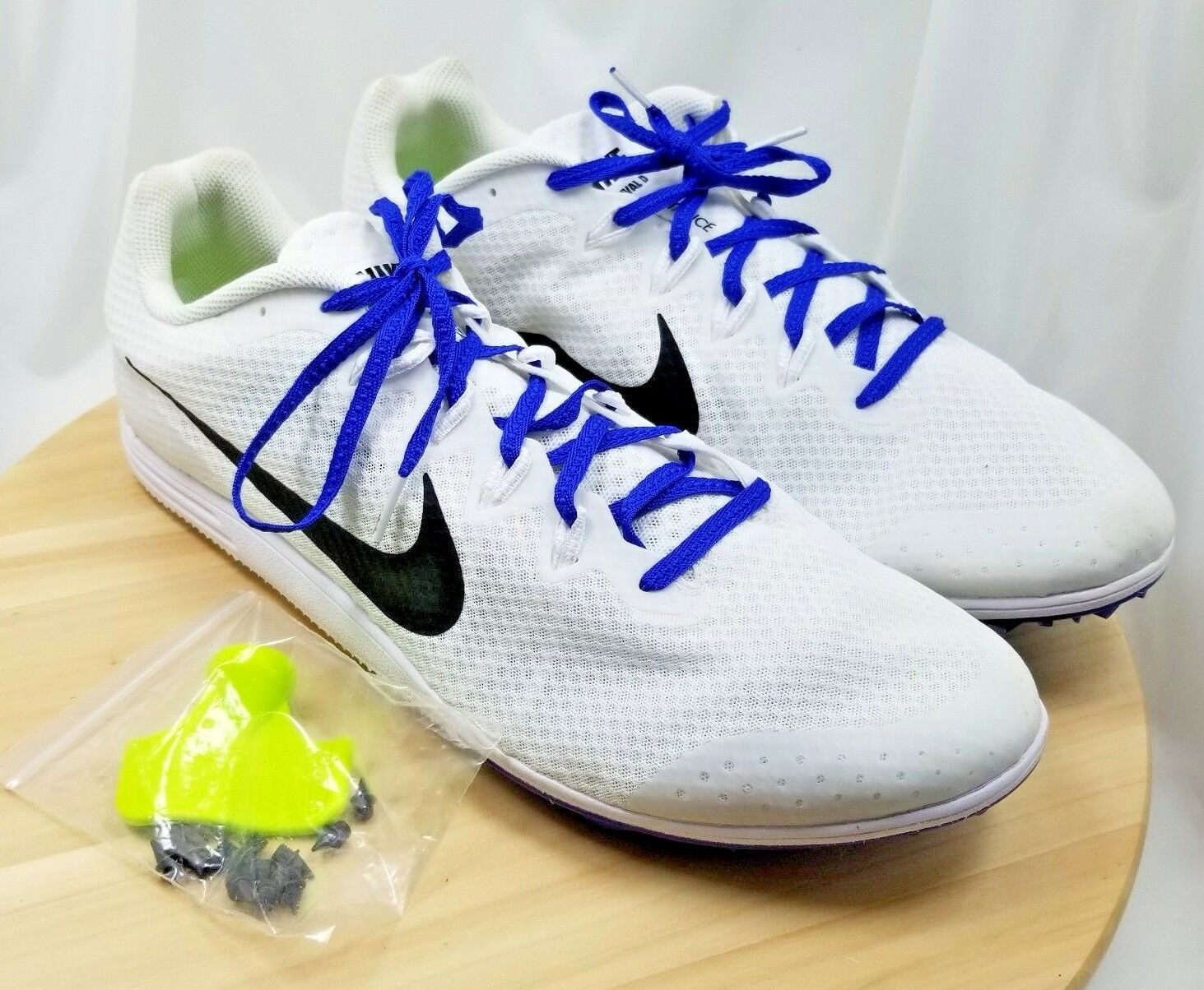 Nike Zoom Rival D 9 White Track Field Spikes Distance Racing Shoe - US:15/UK:14 Special limited time