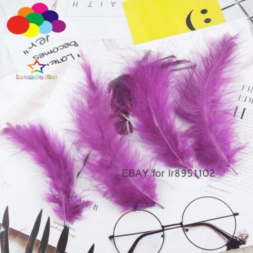 100 piezas de 4-6 pulgadas 10-15CM Turquía Marabú plumas Esponjoso Vestido para boda Hágalo usted mismo