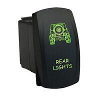 Rocker Switch 6b44g 12v Rear Lights Laser Led On Off Green