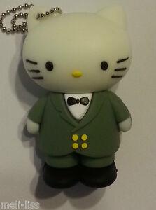 8 GB Rubber Novelty Tuxedo Hello Kitty  Memory Stick USB  Flash Drive -Brand New
