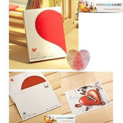 """For Love"" 32 Pcs Mixed Postcards Set Postcard Lot Box Modern Love Style Gift"