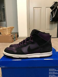 new arrival 0c2ea bbb9f Details about Nike Sb Dunk High Grand Purple 305050 500 Size 10.5