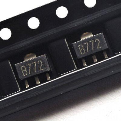 20pcs 2SB772 SMD TRANSISTOR 30V 3A SOT-89 B772 PNP SILICON POWER TRANSISTOR