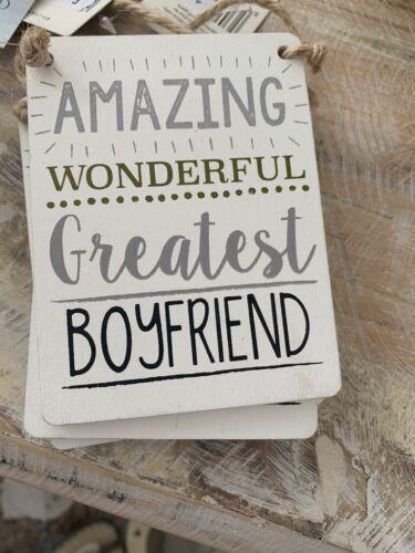 Gisela Graham  Boyfriend Word Plaque