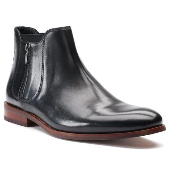 SALE!! NIB Men's Apt. 9® Belaire Ankle Boots Shoes Choose Size Black