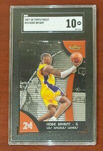2007-08-Topps-Finest-24-Kobe-Bryant-HOF-Lakers-PRISTINE-SGC-10-GEM-MT
