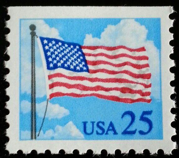 1988 25c Flag & Clouds, Booklet Single Scott 2285A Mint