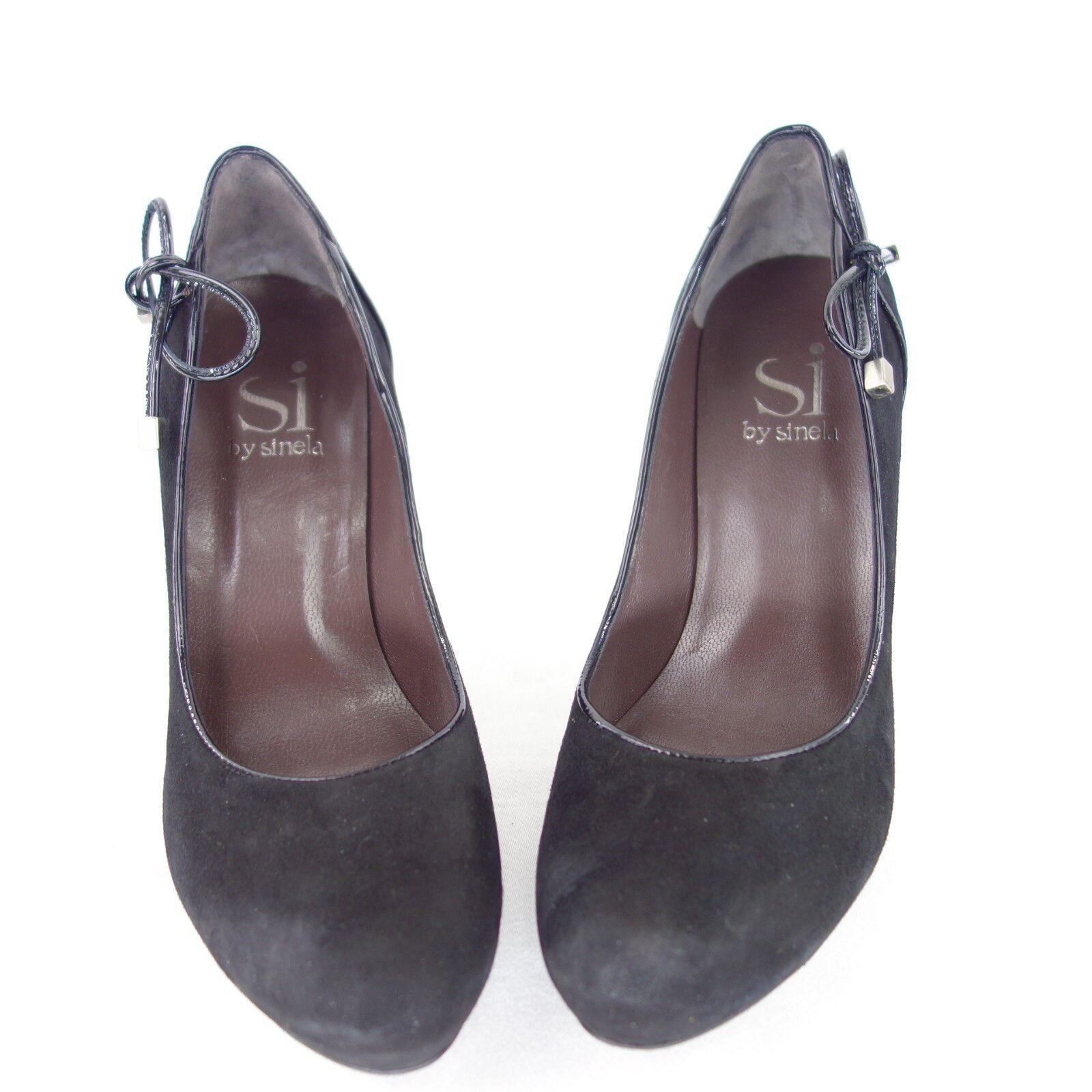 Si by Sinela Women's Court shoes Leather Suede Black Black Black Bix 41 Np 139 924447