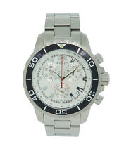 Elgin 1863 Men's Swiss Round Silver Tone Chronograph Date Stainless Steel Watch