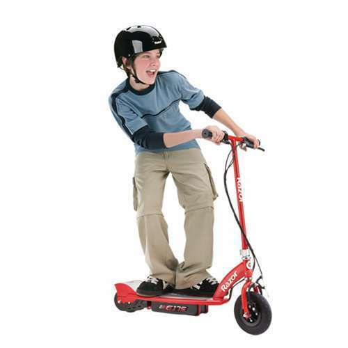 Open Box Razor E175 24V Rechargeable Electric Motor Power Kids Scooter Red