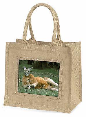 Frecher Känguru Große Natürliche Jute-einkaufstasche Weihnachten , AK-1BLN
