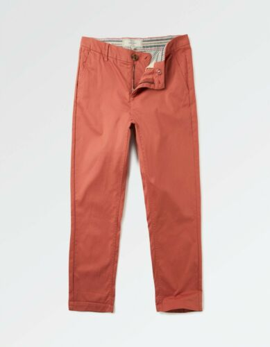 Women/'s BNWT Fat Face Lulworth Chino Crop Size 12 Pink//Cedar