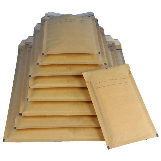 100 G7 Luftpolstertaschen Versandtaschen Luftpolstertüten 250 x 350 mm braun