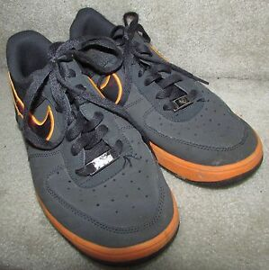 reputable site 1c537 4312b Image is loading Nike-Lunar-Air-Force-1-Leather-Anthracite-Basketball-