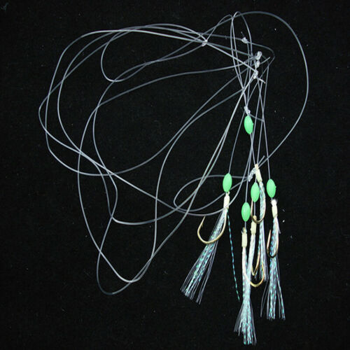 Mackerel Feathers Bass Cod Lure Lures Sea Fishing Rigs Re C Tackle M6D9 New W4E9