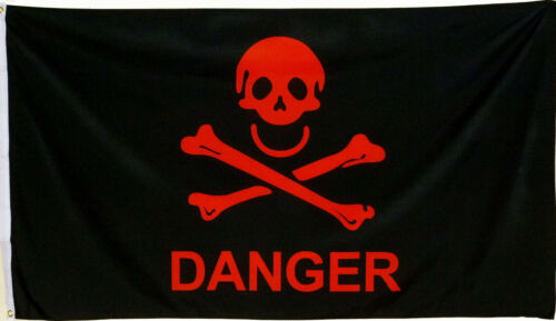 Flagge DANGER Skull Crossbones Pirat 1,5x0,9m Deko Fahne Neu