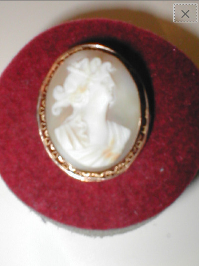 Antique Vintage 1910's Carved Shell Cameo Brooch … - image 5