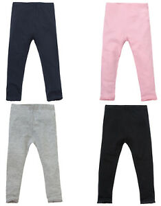 beaaa26da5d7f Baby Girls Cotton Rich Leggings With Lace Trim Babies Infants ...