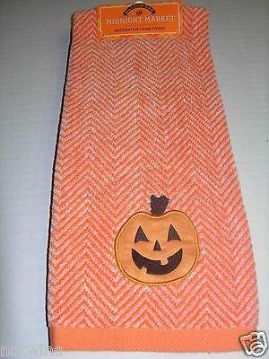 One Happy Halloween Midnight Market Bathroom Hand Towel Pumpkin Decorative NWT