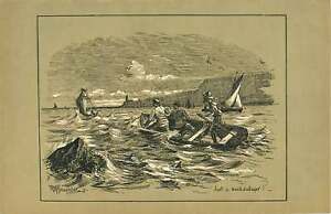 1900 Catching A Huge Fish Print - Jarrow, United Kingdom - 1900 Catching A Huge Fish Print - Jarrow, United Kingdom
