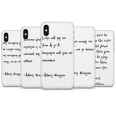 Famous People Quotes  Albert Einstein  Phone case cover for iPhone,  Samsung  B9 | eBay