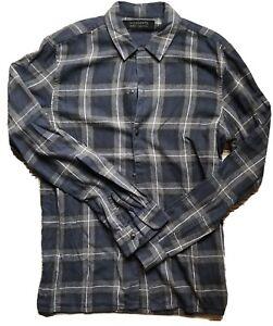 All-Saints-Mens-Check-Shirt-Medium