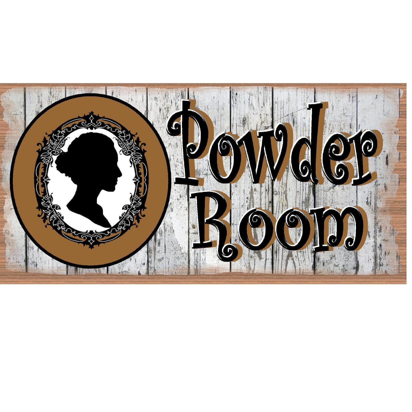 Powder Room - GS 2508 - Bathroom Plaque - Bathroom Sign