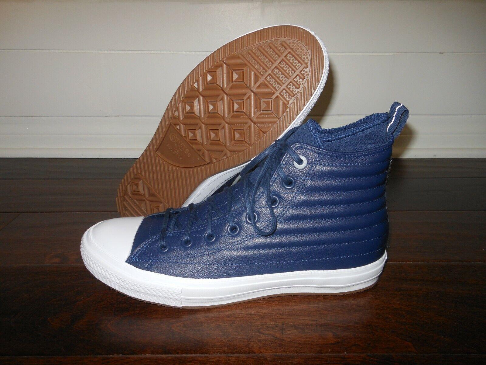CONVERSE CTAS WP Counter Climate Leather Boots Hi 157490C Size 10 US 44 EUR Navy