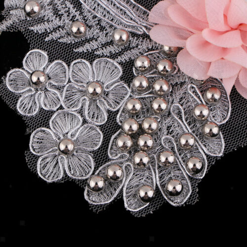 Flower Mesh Lace Embroidered Patch Sew on Applique for Clothes Dress Decor