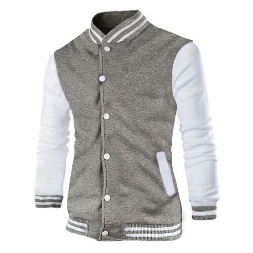 Mens Fashion Varsity Jacket College University Letterman Baseball Coat Outfits