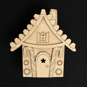 Wooden-Christmas-Gingerbread-Elf-House-Xmas-Blank-Craft-Kit-Festive-Decoration