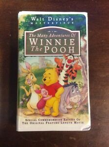 Where Can I Sell My Vhs Tapes >> The Many Adventures of Winnie the Pooh VHS 1996 Clamshell ...