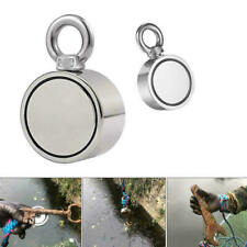500lbs Pulling Force Round Double Sided Fishing Magnet Heavy Duty Treasure Hunt
