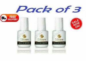 3x-Glue-with-Brush-High-Quality-7-5g-Nails-False-Tips-Gel-Acrylics-Silcare